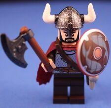 LEGO® VIKINGS BERSERKER WARRIOR +SHIELD Custom Minifigure +Helmet w Rare Horns