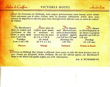 "Salon de Coiffure Victoria Hotel Amsterdam ""Welcome to Holland"" Hairdresser Card"