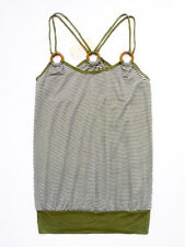 NEW WITH TAG FOREVER 21 Striped Racer Back Tank Top With Wooden Rings Size Small