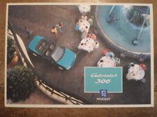 PEUGEOT 306 CABRIOLET orig 1994 French Mkt Sales Brochure Depliant