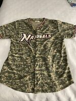 NORTHWEST ARKANSAS NATURALS SGA GIVEAWAY JERSEY Camouflage Camo MENS Large L