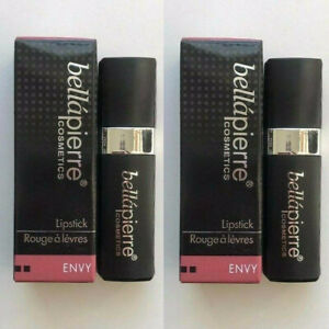 Lot of 2 BELLAPIERRE COSMETICS Mineral Lipstick in Envy 3.5g/0.123oz Full Size
