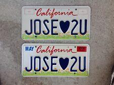 "(2) - MATCHING PAIR CALIFORNIA - ""KIDS"" - VANITY LICENSE PLATES"