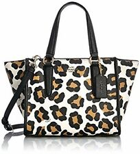 NWT Coach Embossed Texture Leather Ocelot Print Mini Carryall 33845 LI/White Mul