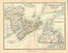 1911 LARGE VICTORIAN MAP ~ DOMINION OF CANADA EASTERN SHEET NEW BRUNSWICK