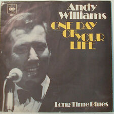 "ANDY WILLIAMS - ONE DAY OF VOTRE VIE - LONG TIME BLUES - 7"" SINGLES (F663]"
