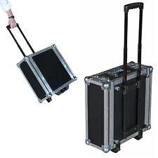 "4 Space 4U ATA Rack Case w/Retractable Handle & Dolly Wheels - 16"" Deep Shell"