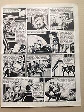 Giordan Grande Planche Originale 5 La Terre est Folle , METEOR 90 Artima 1960 BD