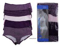 5 PACK Ladies Womans Underwear Briefs Boy Shorts purple Knickers 8 10 12 14 16