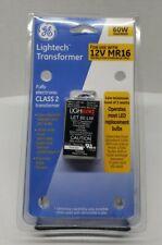 GE Lightech Transformer Class 2 12V 60W for 3W MR16 MR11 MR8 Halogen & LED