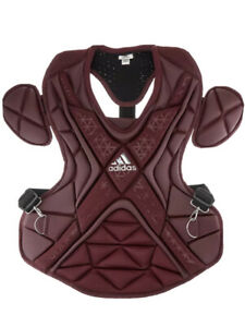 """Adidas 17"""" Pro Series 2.0 Baseball Catchers Chest Protector Maroon S99088 NEW"""