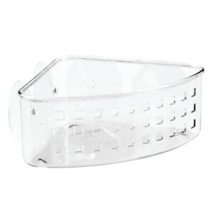 InterDesign  Shower Corner Basket  7-1/2in H x 3-7/16in L x 9-1/2in W Plastic