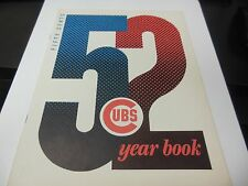 1952 CHICAGO CUBS MLB BASEBALL OFFICIAL YEARBOOK VERY RARE WRIGLEY FIELD NICE CO
