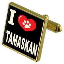 I Love My Dog Gold-Tone Cufflinks & Money Clip - Tamaskan