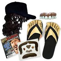 Billy Bob Hillbilly Complete Redneck Costume Kit - Teeth, Mullet, Feet, Mustache