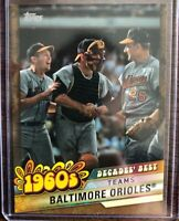 2020 Topps Decades' Best 1960's #DB-27 BALTIMORE ORIOLES Brooks Robinson /50 SP