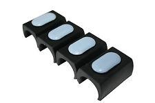 4 x Möbelgleiter Teflon Klemmgleiter Freischwinger 23-27 mm - schwarz ohne Dorn