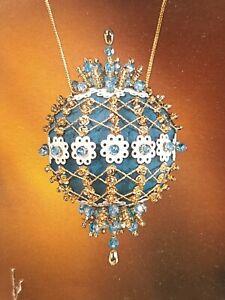 "Vtg 1978 Leewards ""LACY FILIGREE"" Sequin Beaded Christmas Ornament Kit New Nice!"