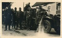 Nr 3728 Original privat Foto Deutsche Soldaten Panzer tank Sd.Kfz.Rast i Belgien