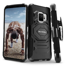 Galaxy S9 Plus Case Rugged Shockproof Dual Layer Cover Belt Clip Kickstand Black
