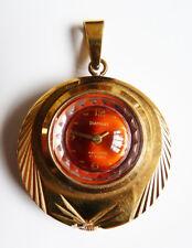 Pendentif  Montre mécanique de femme DIAMANT en plaqué or