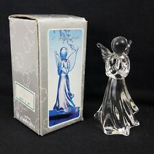 """Hand Made Crystal Angel, 3.75"""" Tall, Clear"""