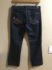 7 for all Mankind Boot Cut Women's Jeans Size 28 28x28 28 X 28 Bling Pockets