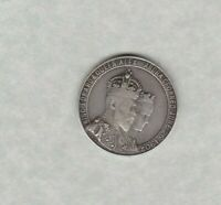 1902 EDWARD VII CORONATION SILVER MEDAL IN VERY FINE CONDITION