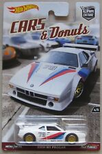 Hot Wheels Car Culture cars & Donuts BMW M1 PROCAR white with Real Riders