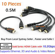 Short 0.5M High-Speed HDMI Cable Cord Support 4K, Ethernet, 3D and Audio Return