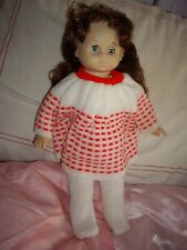 "15"" 1960's Doll with Long  Brown Hair & sleeping blue eyes excellent condition"