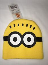 NWT Despicable Me Minion hat unisex size 2t-7 yellow