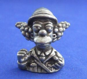 Clue Simpsons Krusty Col. Mustard Token Replacement Pewter 1st Edition 2000