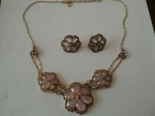 Crystal Gold Necklace Vintage Costume Jewellery (1980s)