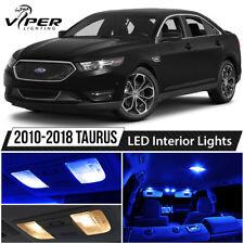 2010-2018 Ford Taurus Blue Interior LED Lights Package Kit + License Lights