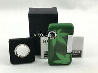 S.T. Dupont HOOKED Cannabis Grün Jet Feuerzeug mit Schlüsselring
