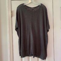Vince Womens Size XS Gray Linen Sweater Short Sleeve