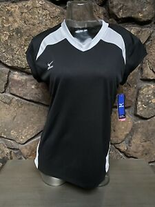 Mizuno Performance S/S Volleyball Jersey Black/White Sz S,M,L NWT 440323