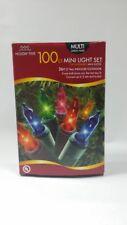100 mini light set Christmas holiday decor indoor outdoor 26f Nib multi red blue