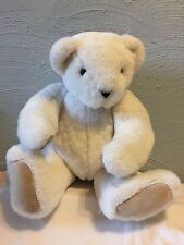 "1994 The Vermont Teddy Bear Co white 19"" Jointed Plush"