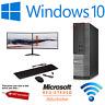 Dell Gaming & Dual Screen Quad Core i5 i7 Desktop/Tower PC Win10,16GBGT-1050 4GB