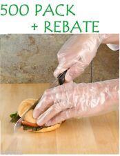 500 PCS Disposable Sanitary Plastic Glove Restaurant BBQ Cook Kitchen Food Home