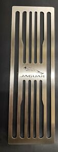 JAGUAR FOOTREST XF- HIGH QUALITY STAINLESS STEEL WITH BLACK RUBBER BACKING