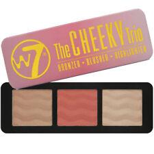 W7 the Cheeky Trio Bronzer Blusher & Highlighter Powder Palette