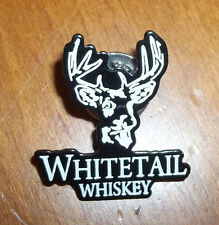 NEW! WHITETAIL Whiskey HAT PIN Button Tie Tack, Black, Ten Point Buck