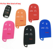 Durable Soft Silicone Smart Key Fob Shell Cover Case For Jeep Chrysler Dodge 1pc