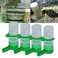 4x Bird Pet Drinker Feeder Automatic Food Waterer Clip Aviary Cage Parrot  New