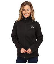 New Womens North Face Fleece Zip Coat Jacket Canyonwall Black XS