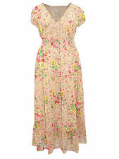 Chiffon Short Sleeve Floral Maxi Dresses for Women