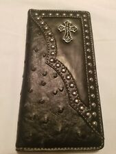 Western , check book,Wallet ,men, CROSS METAL PLATE